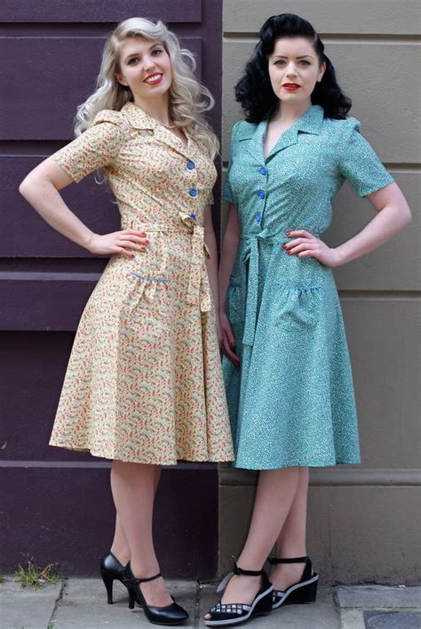 1940 s style day dresses tara starlet 1940s 40s style