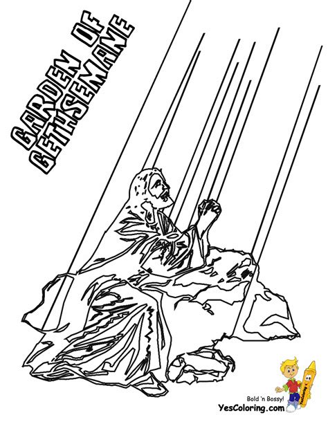 coloring pages jesus in gethsemane mighty grace bible coloring sheets bibles free noah