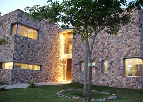 stone and wood homes contemporary raw stone wood house casa nordelta digsdigs