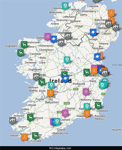 map of with attractions maps update 800900 map of ireland with tourist