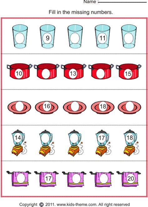 all worksheets 187 missing number worksheets printable
