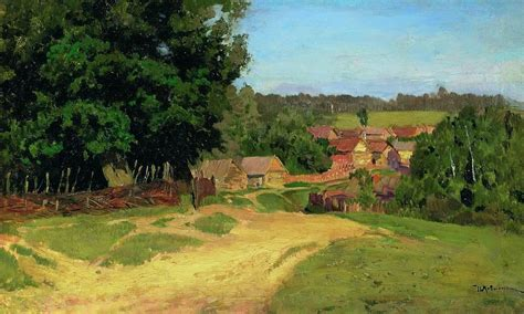 small villages small village levitan isaac wikiart org