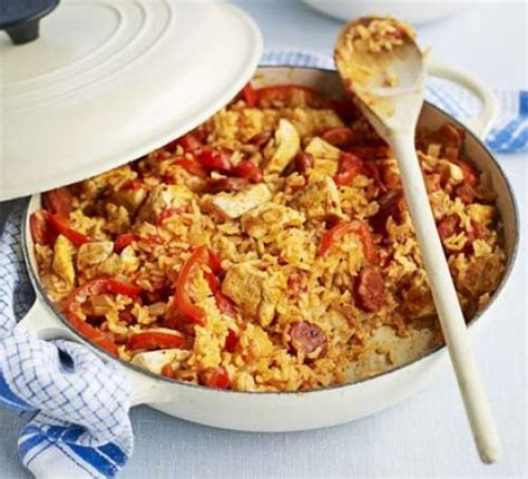 chicken chorizo jambalaya recipe bbc good food