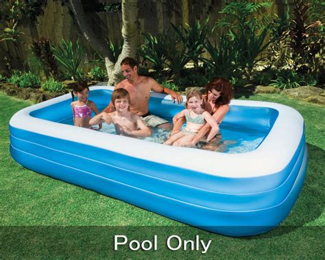 Family Swim Poll intex swim center family rectangular pool kiddie swimming pool