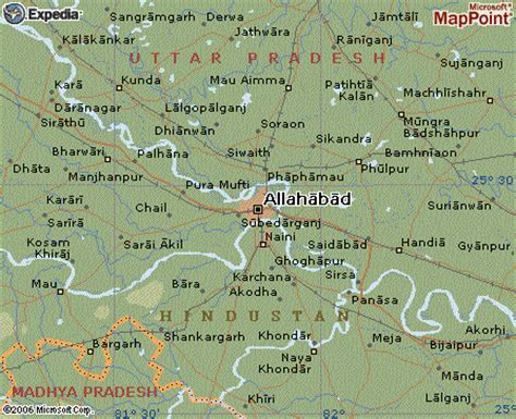 map of allahabad city allahabad map and allahabad satellite image