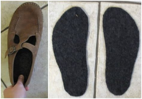 diy shoe insoles diy wool shoe insoles make them from sweaters