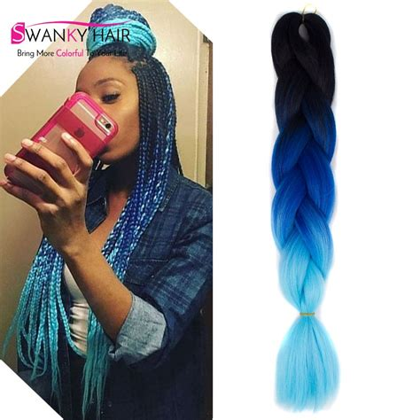 colored braiding hair aliexpress buy 24 quot 100g multi colored hair