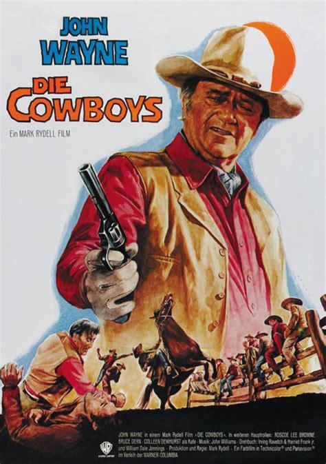 film cowboy my the cowboys 1972 john wayne cult western movie poster