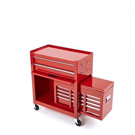6 drawer tool box steel roller 2 piece cabinet tool chest 6 drawer red