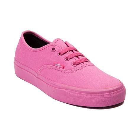 vans authentic skate shoe pink monochrome journeys shoes