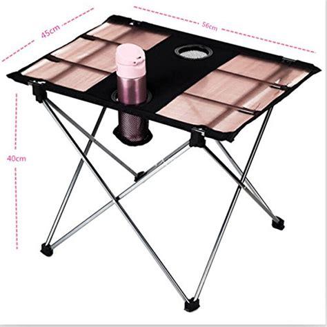 folding table with drink holders camtoa folding cing table portable desk aluminium