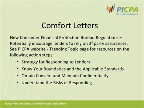 letter of comfort meaning professional issues affecting the cpa profession