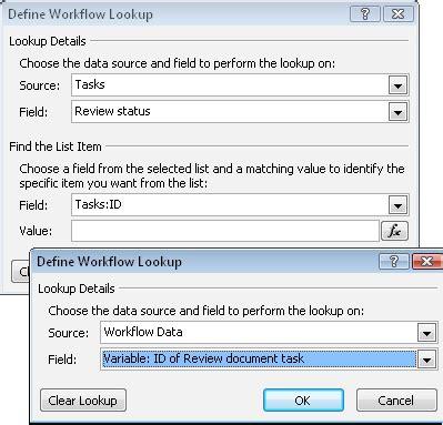 define workflow lookup define workflow lookup dialog box