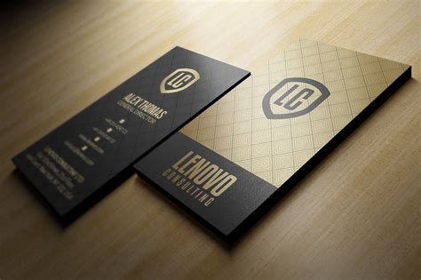 Behance Free Business Card Template by 25 Gold Business Cards Bundle On Behance