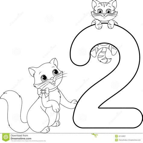 color by numbers coloring book of kittens and cats a kittens and cats color by number coloring book for adults for relaxation and stress relief color by number coloring books volume 13 books two cats coloring page stock vector image 42142801