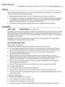 Poultry Sales Sle Resume by Management Resume In Retail Sales Retail Lewesmr