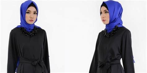 Dress Emely Hitam icl boutique dress syar i saat ke pesta co id