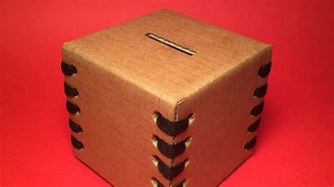 how to make cool boxes how to make a cool cardboard money box diy crafts