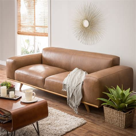 Home Design And Remodeling Show 2015 by Dante Italian Oxford Tan Leather Sofa Contemporary