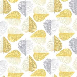printed wallpapers habitat stitch leaf printed wallpaper mustard yellow
