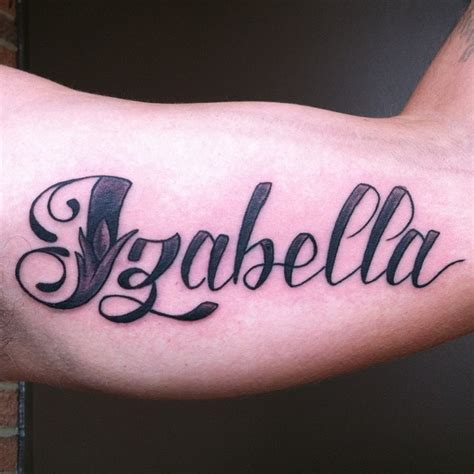 isabella tattoo the gallery for gt name tattoos