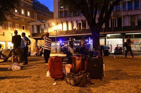 via t patini 19 roma ufficio immigrazione dopo lo sgombero i migranti dormono in piazza indipendenza