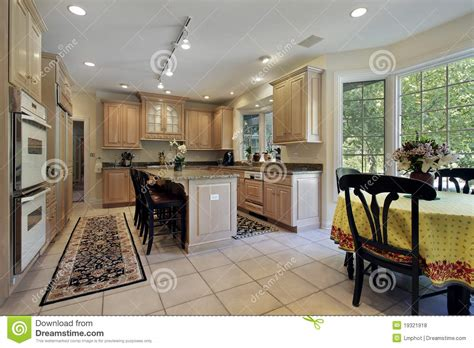 kitchen with eating area and island stock photography kitchen with eating area royalty free stock photos image