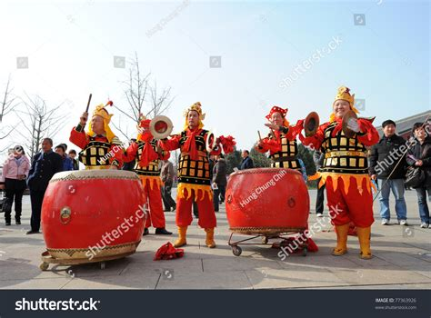 xian china new year xian china feb 20 traditional drummers announce the