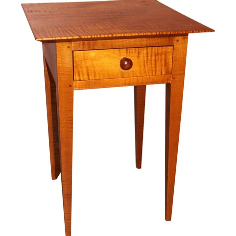 sam bench jason samuel bench made tiger maple one drawer stand in