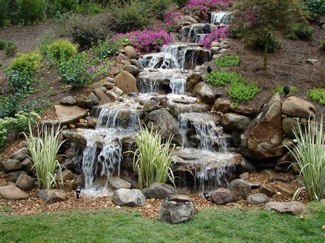 backyard water falls how to build a diy waterfall