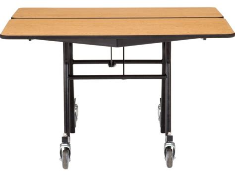 nps folding square cafeteria table chrome 48x48