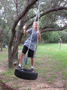 how to make a tire swing without a tree tire swings swings and swing sets on pinterest