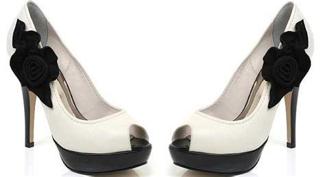 black and white floral bridal shoes the wedding specialists