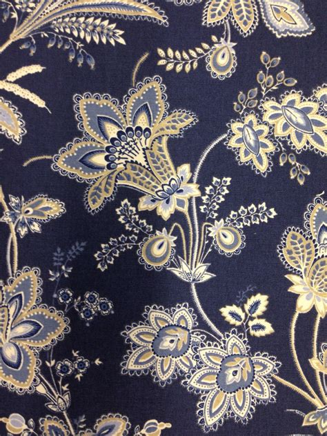 navy blue and white upholstery fabric beautiful navy blue white and wheat floral fabric navy