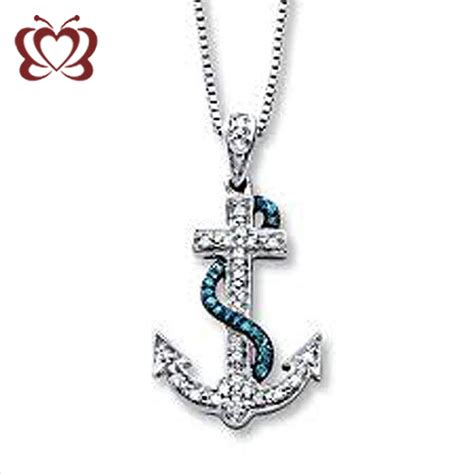 womens anchor necklace fashion vintage nautical womens