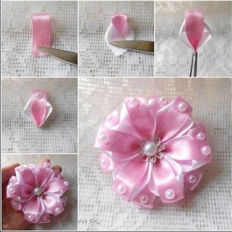 ribbon crafts diy make simple ribbon flowers step by step k4 craft