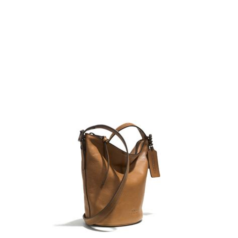 Mandy And Coach Bleeker Duffle by Lyst Coach Mini Duffle Bag In Glove Tanned Leather In Yellow