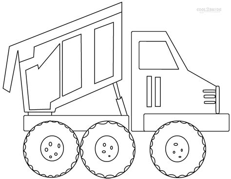 coloring page dump truck printable dump truck coloring pages for kids cool2bkids
