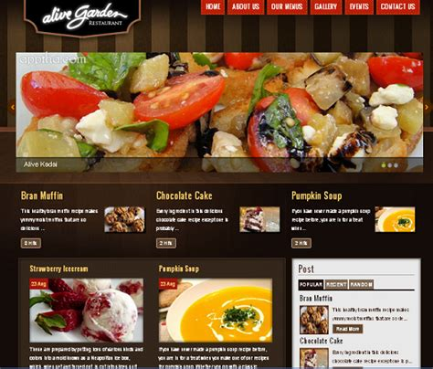 wordpress restaurant layout gallerywp treasure of useful plugins themes for