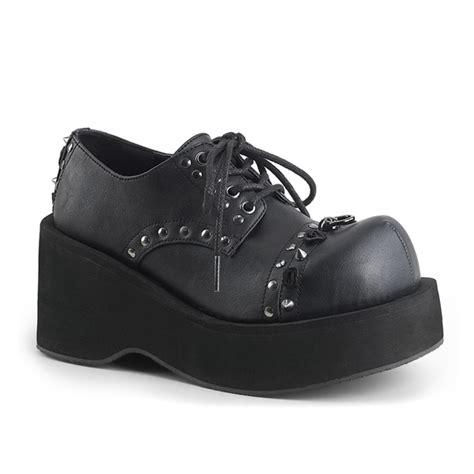 Lace Up Studded Platform Shoes demonia dank 110 studded lace up womens platform