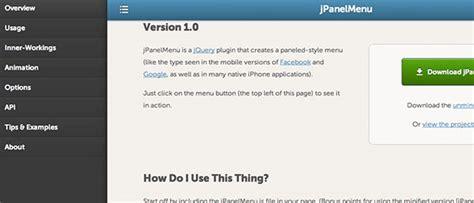 bootstrap layout left menu レスポンシブで魅せる メニューデザインまとめ 8 bansna