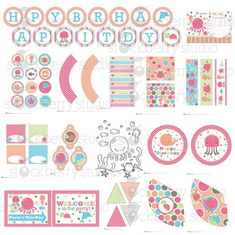 Baby Shower Decorations Kits by The Sea Printable Kit By Stockberrystudio