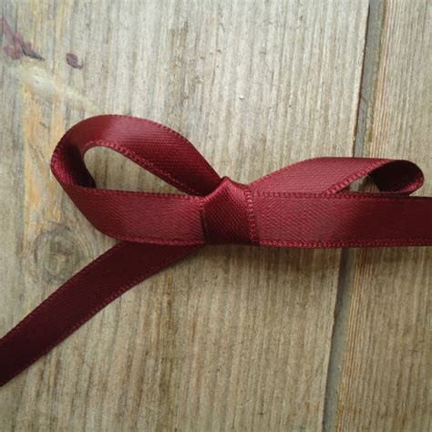 Maroon Ribbon maroon satin ribbon 8mm 171 handbound costumes