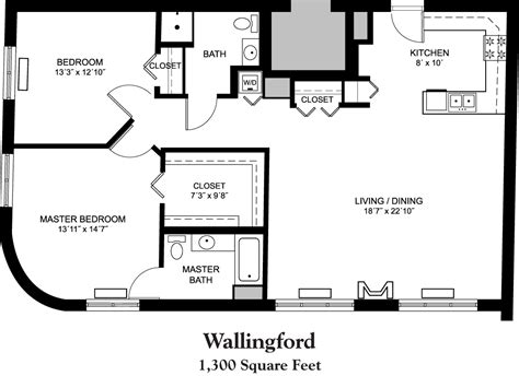 1300 sq ft apartment floor plan senior apartment floor plans whitney center house plans