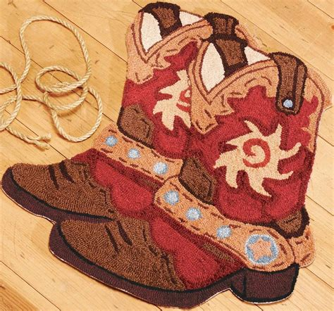 cowboy area rugs country western cowboy boots accent area rug floor mat non