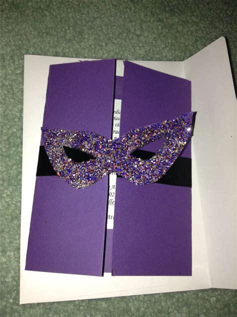 Homemade Masquerade Invitations Celeb Ion Stuff