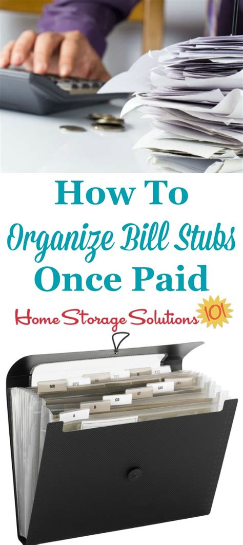 organize bills how to organize bills once they ve been paid