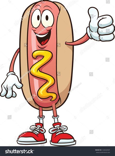 funny hot dog pic cute cartoon hotdog vector clip art stock vector 122632507