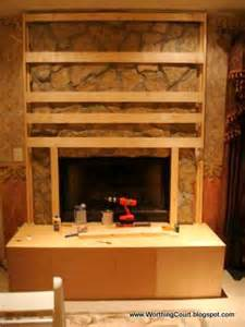 how to cover up a fireplace diy fireplace makeover worthing court