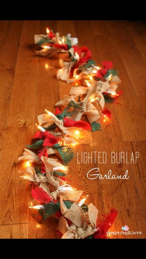 burlap lantern string lights 1 string of lights 2 burlap ribbon of any color 3 cut ribbon and tie on to lights